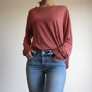 Armand Ventilo - 100% Silk Brown Long Sleeve Shirt